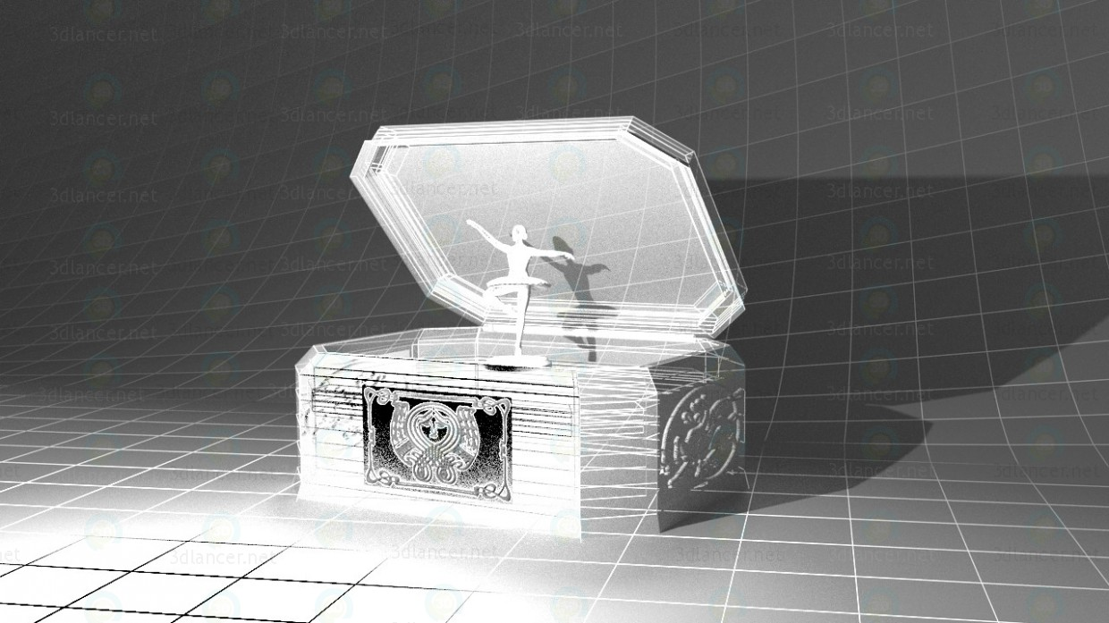 3d Music box model buy - render