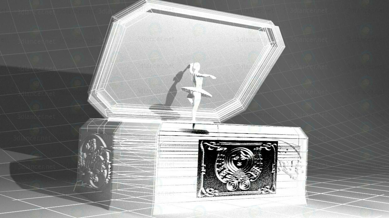 3d Музыкальная шкатулка модель купить - ракурс