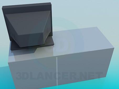 3d модель Тумба з полицями для відео і аудіо систем – превью