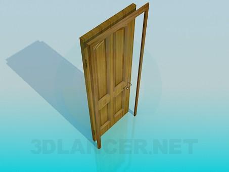 3d модель Дерев'яні двері – превью