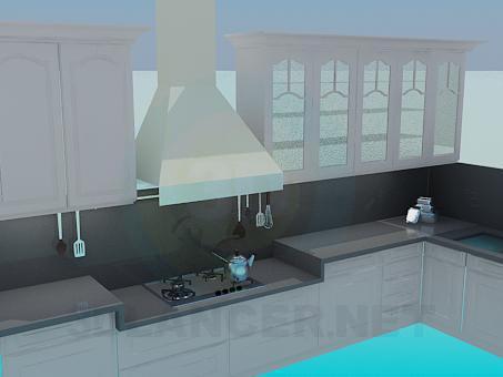 modelo 3D Cocina gris con trampilla - escuchar
