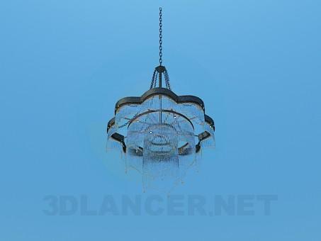 3d модель Люстра украшенная стеклянными трубочками – превью