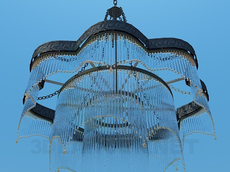 3d model Chandelier decorated with straws - preview