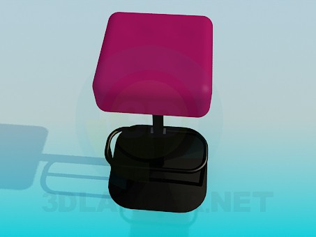 3d model Square bar stool - preview