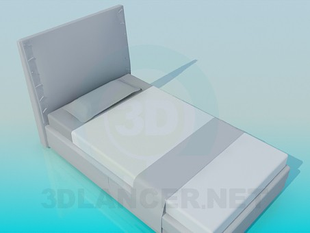 3d modeling Bed with high headboard model free download