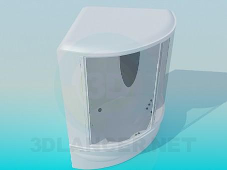 3d модель Велика душова кабіна – превью