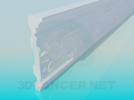 3d model Stucco Baguette - preview