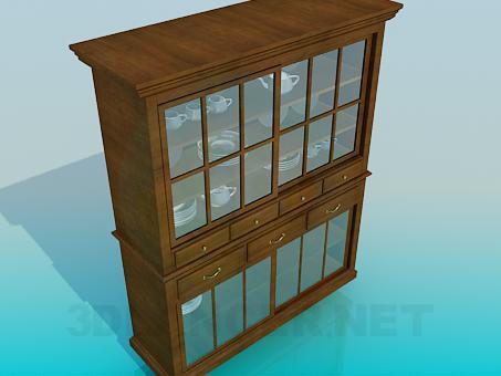 modelo 3D Aparador de madera - escuchar