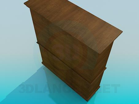 3d model Wooden sideboard - preview