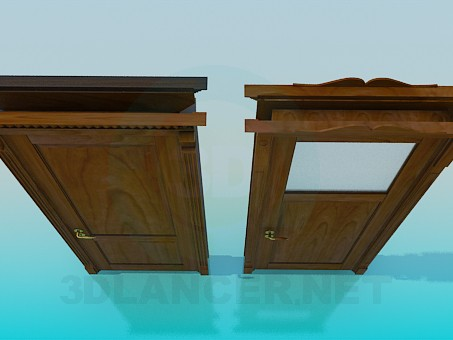 3d model Wooden doors - preview