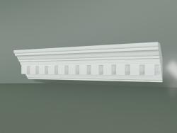 Corniche en plâtre avec ornement KV078