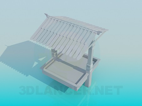 3d модель Песочница для детей – превью