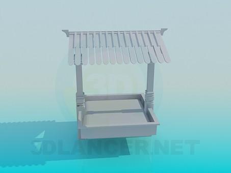 3d model Sandbox for kids - preview