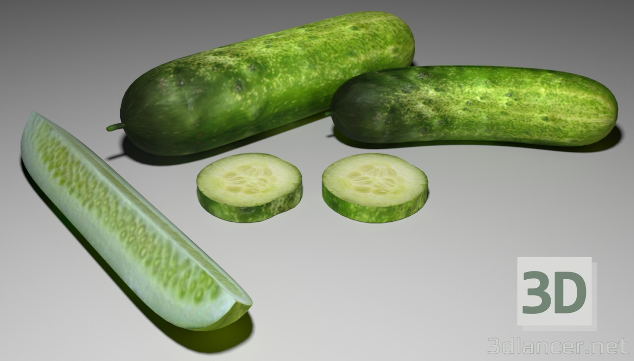 3d modeling Cucumbers model free download