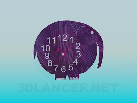 3d model Elephant Clock - preview