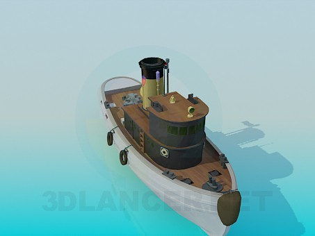 3d model Boat - preview