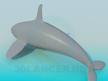 3d model Whale - preview