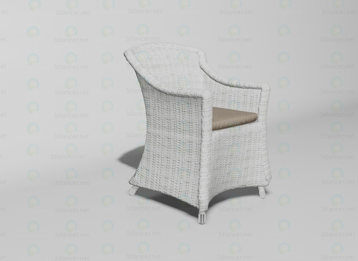 3d modeling Matinique armchair model free download