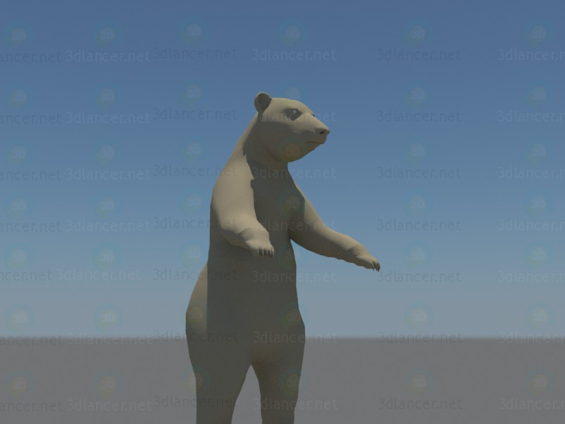 modelo 3D Oso de - escuchar