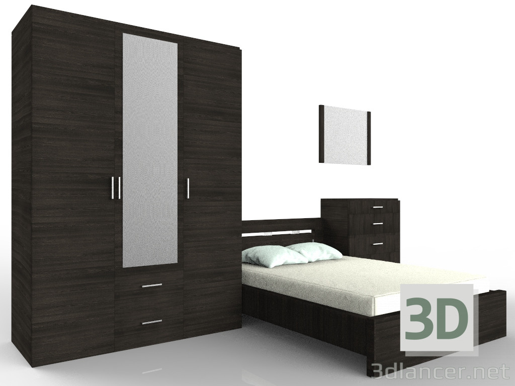 """Juego de dormitorio de """"Unión"""" 3D modelo Compro - render"""