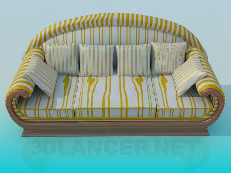 3d modeling The sofa in the strip model free download