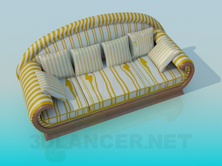 3d model The sofa in the strip - preview