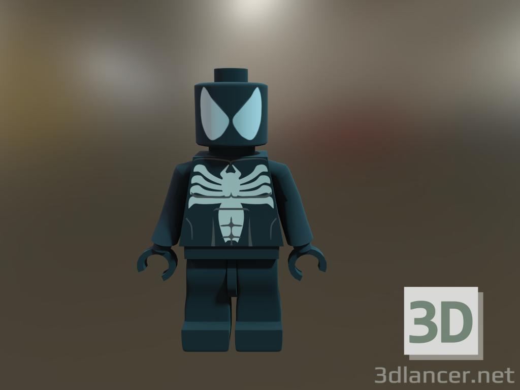 3d Black_Skin_Spider man model buy - render