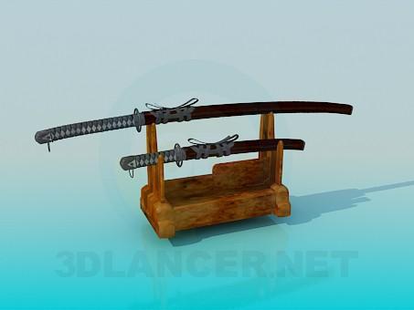 descarga gratuita de 3D modelado modelo Espadas con stand