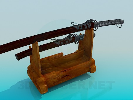 3d model Swords with stand - preview