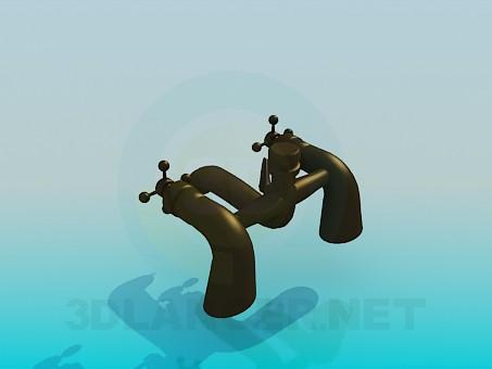 3d модель Медный кран для умывальника – превью