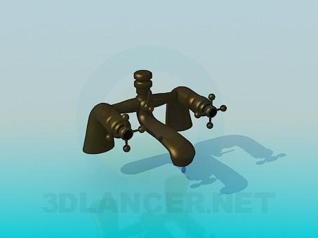 3d модель Мідний кран для умивальника – превью