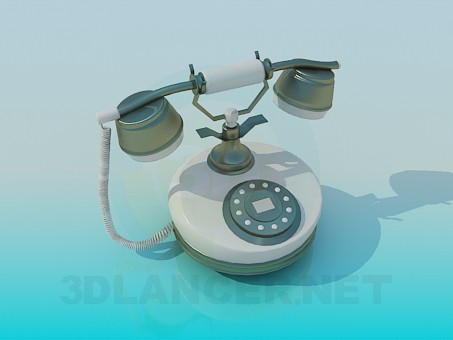 3d modeling Telephone model free download