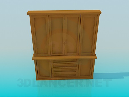 3d model Buffet - preview