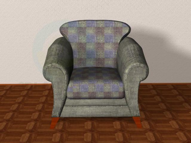 modelo 3D sofá y sillones - escuchar