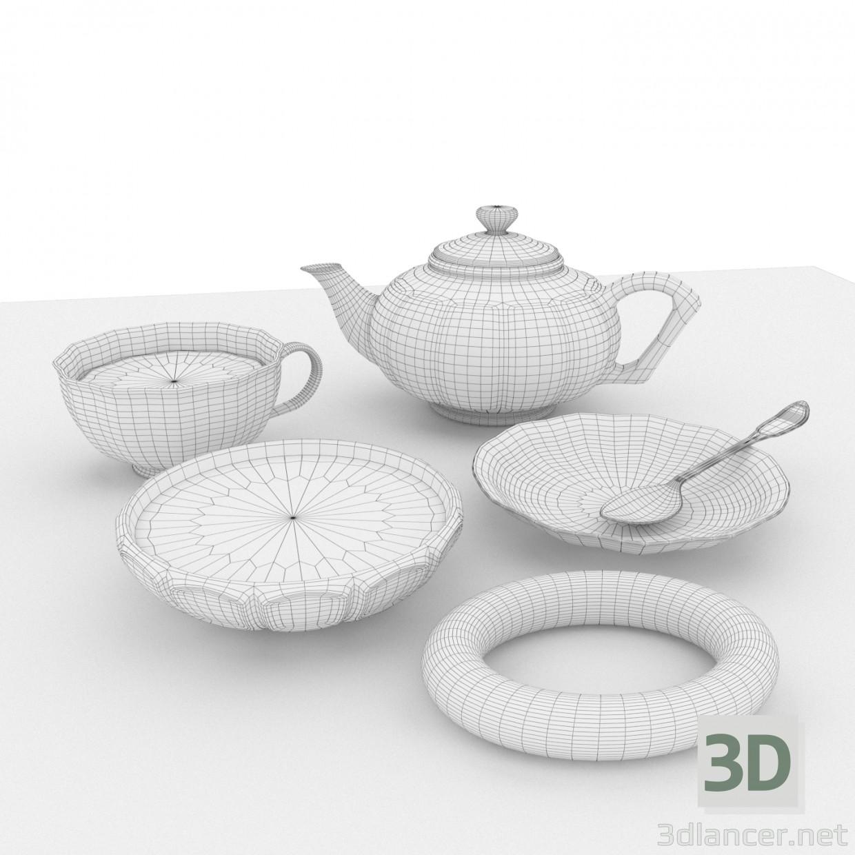 3d model Tea set - preview