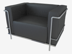 sillón de cuero Poltrona LC3
