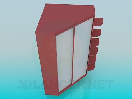 modelo 3D Armario de esquina - escuchar
