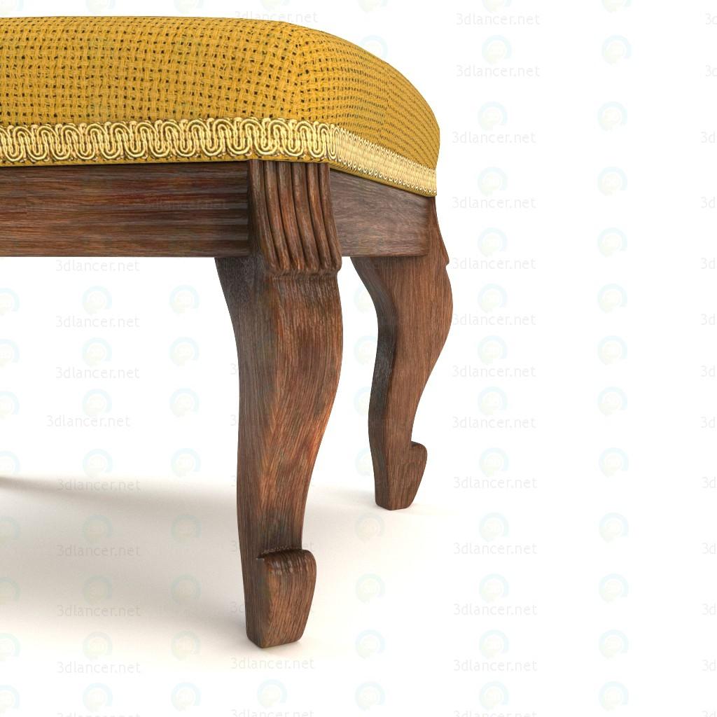 3d Antique vintage Franch chair model buy - render