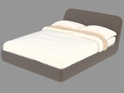 Leather-covered bed with storage space for Guia
