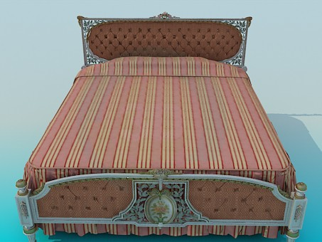 3d model King Bed - preview