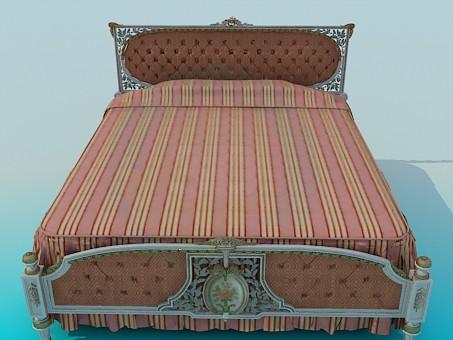 descarga gratuita de 3D modelado modelo Cama King