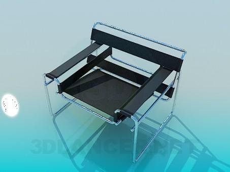 3d модель Стілець на металевій підставою – превью