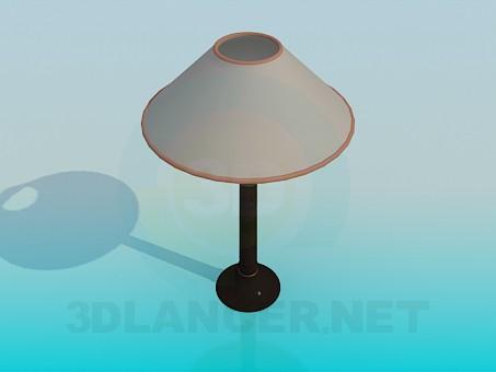 3d моделирование Лампа настольная с абажуром модель скачать бесплатно