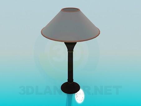 modelo 3D Lámpara de mesa con lámpara - escuchar