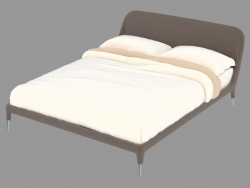 Double bed in leather upholstery Guia