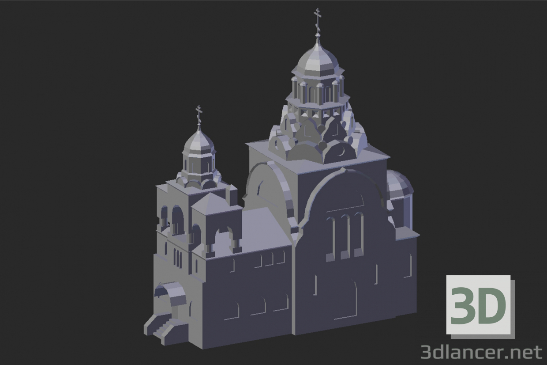 3d model Vladimir. Trinity Church - preview