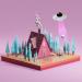 3d model House hut cow - preview