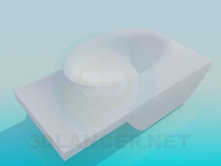 modelo 3D Tocador ovalado - escuchar