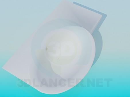 3d модель Овальный рукомойник – превью