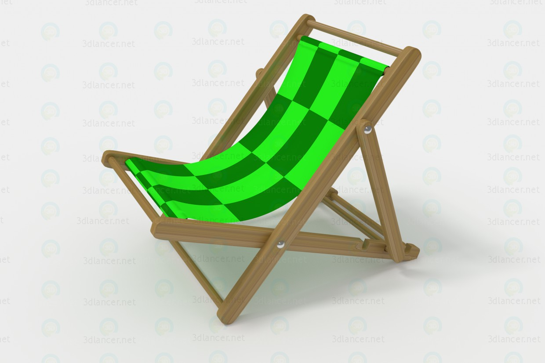 Silla de cubierta 3D modelo Compro - render
